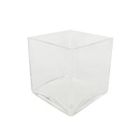 Vase en verre carré 4 x 4 x 4''