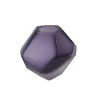 Purple glass vase, 3 x 3 x 2.5''
