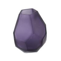 Purple glass vase,  3 x 3 x 5''