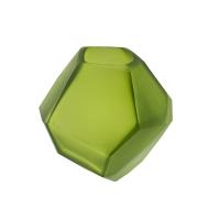 Green glass vase, 3 x 3 x 2.5''