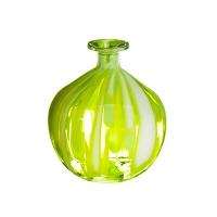 5,7'' Lime green glass vase