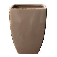 Vase carré beige 5x5x6