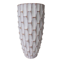 Tall textured white vase, 26,5''