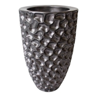 Tall textured black vase, 19,5''