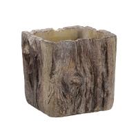 Vase imitation écorce en ciment 4,75 x 5,5 x 5''