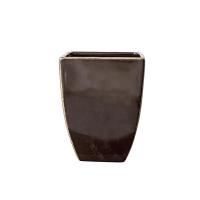 Vase carré noir fini lustré 5x5x6