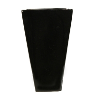 Black colored vase 5x8