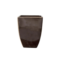 Glossy black finished squared vase 6