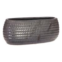 Textured Oval Vase, 9.5''