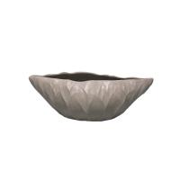 Vase ovale gris 12X5X4''