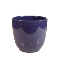 Vase rond aubergine 4''