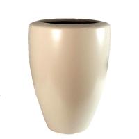 Vase rond blanc 6,5x14''