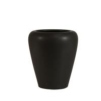 Vase rond brun 6x6x7''