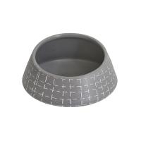 Vase rond en céramique grise 5,5 x 5,5 x 3''