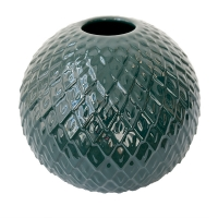 Dark Green Round Resin Vase