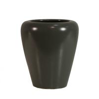 Vase rond ivoire 6x6x7''