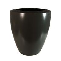 Vase rond gris foncé 6,5x14''