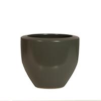 Vase rond gris foncé 6x6x5,5''