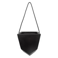 Black geometrical hanging pot 8 x 8 x 10''