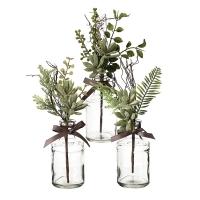 Verdure en vase de verre 10''