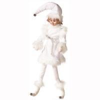 Victoria la lutine des neiges, visage en céramique 24''