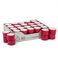 1,5'' Red tealight. Unit price