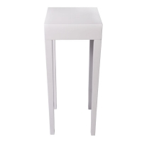 Table d'appoint blanche9x9x31''