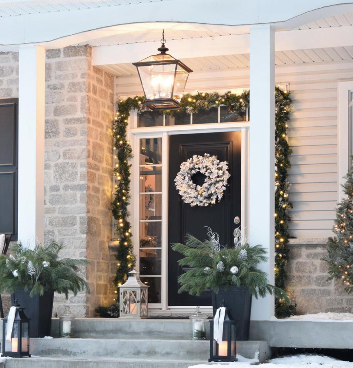 Des Idées Lumineuses Pour Un Décor De Noël Extérieur