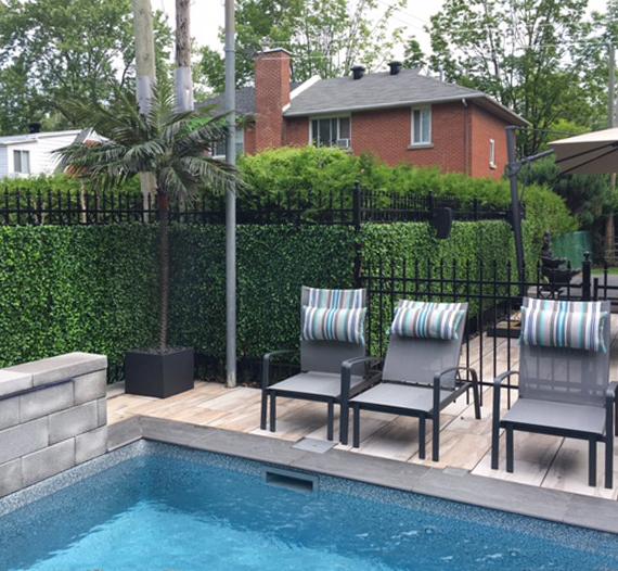 Choix de plantes et fleurs artificielles et d accessoires for Club piscine boucherville