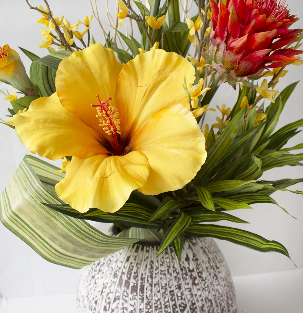 Artificial Colorful Flower Arrangement Hibiscus Veronneau