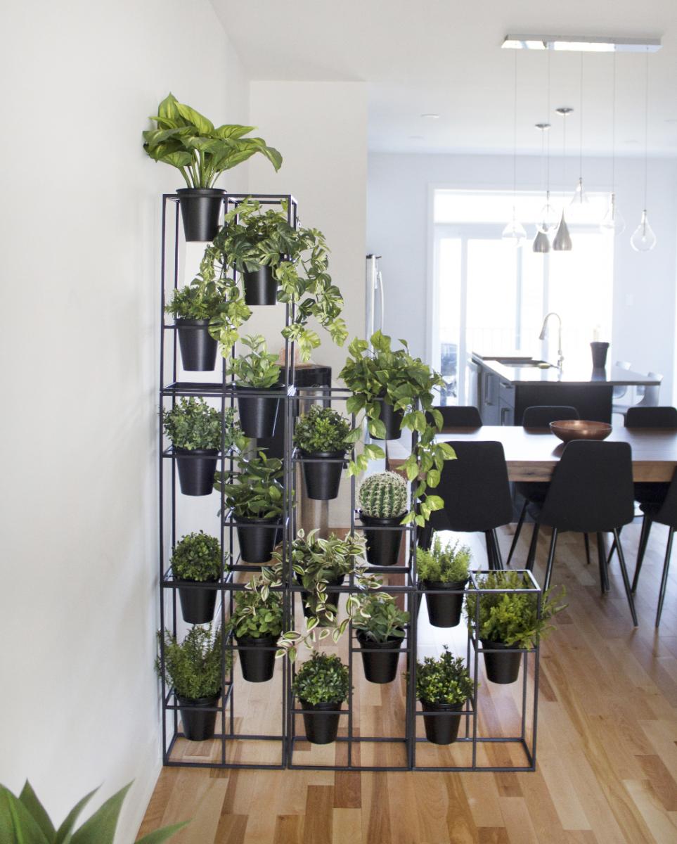 support pots de fleurs en m tal noir d cors v ronneau. Black Bedroom Furniture Sets. Home Design Ideas